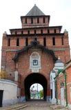 Pyatnitskie portar, de huvudsakliga portarna av den Kolomna Kreml, Ryssland royaltyfria bilder