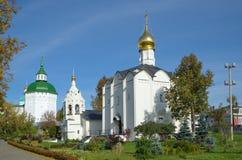 Pyatnitskoesamenstelling van de Heilige Drievuldigheid Sergius Lavra Sergiev Posad, Rusland royalty-vrije stock fotografie