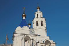 Pyatnitsky-Kirche mit Kapelle Tatarstan, Russland Lizenzfreie Stockfotos