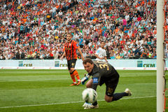 Pyatov Andriy Goalkeeper of football club Shakhtar Donetsk Royalty Free Stock Photography