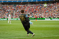 Pyatov Andriy Goalkeeper of football club Shakhtar Stock Image