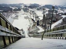 Pyeong Chang 2018 Winter Olympic Ski Jump Center. 2018 Winter Olympic Ski Jump Center Pyoeng Chang Korea taken on 28.12.2016 Royalty Free Stock Photos