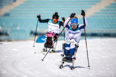 Pyeongchang 2018 March 14th Biathlon center - in Cross-Country S stock image