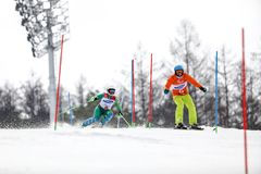 PyeongChang 2018 March 18th . Women`s Slalom. Winter paralympic stock images
