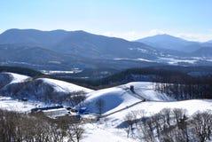 Śnieżna góra w Południowy Korea Obrazy Royalty Free