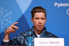 Olympic champion Shaun White during press conference after his victory in the men`s snowboard halfpipe at the 2018 Winter Olympics. PYEONGCHANG, SOUTH KOREA Stock Photo