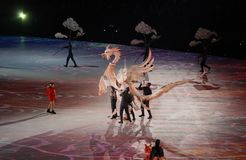 The 2018 Winter Olympics Opening Ceremony. PYEONGCHANG, SOUTH KOREA - FEBRUARY 9, 2018: The 2018 Winter Olympics Opening Ceremony. Olympic Games 2018 officially Royalty Free Stock Image