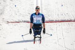 Pyeongchang 14th Biathlon center - Meenagh Scott in Cross-Countr stock photography