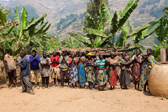 Pygmeeën Stock Foto