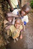 Pygmy kinderen Stock Afbeelding