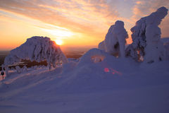 Pyhätunturi Ski Resort Fotografia Stock Libera da Diritti