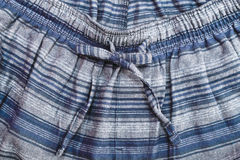 Pyjama trousers. Close up of the waist line of pyjama trousers Royalty Free Stock Images