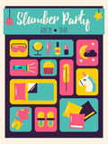 Pyjamaparty-Einladung Lizenzfreies Stockbild