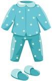 Pyjamas mit Hefterzufuhr lizenzfreie abbildung