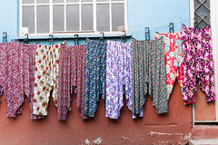 Pyjamas pajamas shot of Cumalikizik touristic street Market in Bursa Turkey.Cumalikizik village is a popular tourist destination i Stock Photos