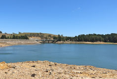 Pykes Creek Reservoir at Myrniong, constructed between 1908 and 1911, is located on a tributary of the Werribee River Royalty Free Stock Images