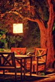 pyknicznego stołu drzewo Obraz Royalty Free