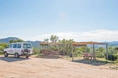 Pykniczny punkt przy dachem Namaqualand Zdjęcia Royalty Free