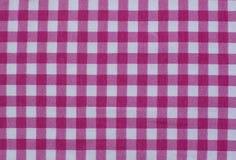 Pykniczny stołowego płótna tablecloth szkockiej kraty tła tkaniny gingham piekarni kraju czerwonego vichy tartanu retro kwadratow zdjęcie stock