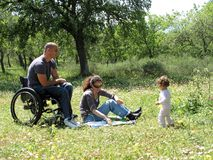 pykniczny wózek inwalidzki Zdjęcia Stock