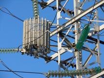 Pylône électrique au centre de Moscou (Russie) Photo stock