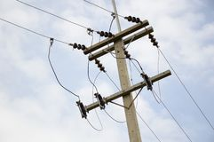 Pylône électrique dans le pays Thaïlande Image stock