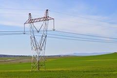 Pylône électrique en métal Photo libre de droits