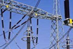 Pylône d'énergie Photographie stock