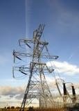 Pylône de fourniture d'électricité Image libre de droits