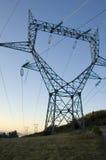 Pylône de l'électricité en France. Photos stock