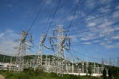 Pylône de pouvoir de l'électricité Photos libres de droits