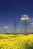 Pylônes électriques Photo libre de droits