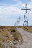 Pylônes de pouvoir Photos libres de droits