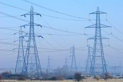 Pylônes de pouvoir Photo stock