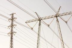 Pylônes de pouvoir Image libre de droits