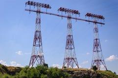 Pylône électrique Images libres de droits