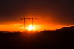 Pylône électrique Photo libre de droits
