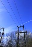Pylône dans le ciel. Image libre de droits