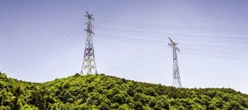 Pylône de l'électricité Photos stock