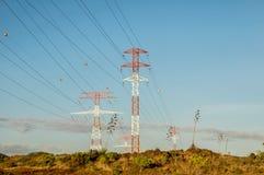 Pylône de puissance de l'électricité Image libre de droits
