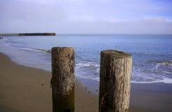 Pylônes de plage Photo libre de droits