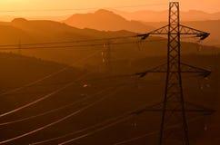 Pylônes pour la puissance Photos libres de droits
