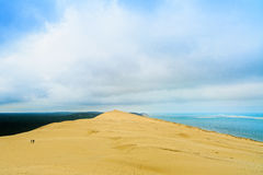 Pyla or pilat sand dune, Bordeaux. France. Royalty Free Stock Photography