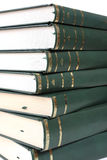 Pyle of books. Pyle of green books detail stock photography
