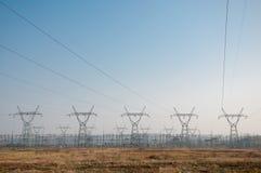 pylon μετάδοση γραμμών Στοκ εικόνα με δικαίωμα ελεύθερης χρήσης