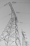 pylon μετάδοση γραμμών Στοκ Φωτογραφία