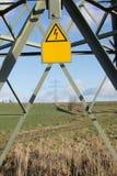 pylon σημάδι ηλεκτρικής ενέργειας Στοκ Εικόνες