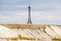 pylon τάση γραμμών ηλεκτρικής ε& Στοκ Εικόνα