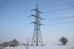 pylon χειμώνας Στοκ εικόνα με δικαίωμα ελεύθερης χρήσης