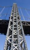 Pylon. Bridge element - tall metal pylon royalty free stock image